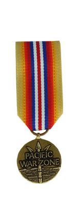 Merchant Marine Pacific War Zone Medal (Miniature Size)