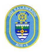 USS Kalamazoo AOR-6 Ship Patch