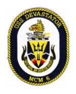 Navy Mine Warfare Ship Patches (MCM, MCS, MHC, MSO, AMc, YMS)