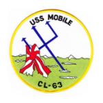 USS Mobile CL-63 Ship Patch