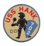 USS Hank DD-702 Ship Patch