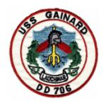 USS Gainard DD-706 Ship Patch