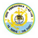 USNS Ponchatoula T-AO-148 Ship Patch