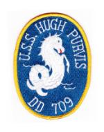 USS Hugh Purvis DD-709 Ship Patch