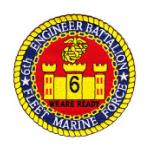 6th Marine Engineer Battalion Patch