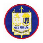 USS Biddle DDG-5 Ship Patch