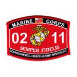 USMC MOS 0211 Counter Intelligence Humint Specialist Patch