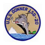 USS Donner LSD-20 Ship Patch
