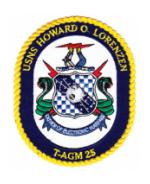 USNS Howard O. Lorenzen T-AGM 25 Ship Patch