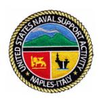 Naval Support Activity Naples Italy Patch