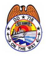 USS Hamner DD-718 Ship Patch