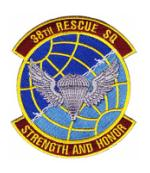 Air Force Rescue Squadron Patches