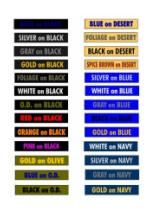 Color Name Tapes