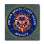 Coast Guard Reserve Bumper Sticker with Crest