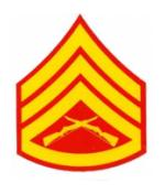 US Marines E-6 Staff Sergeant Outside Window Decal