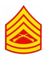 US Marines E-6 Gunnery Sergeant Outside Window Decal