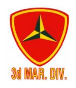 3rd Marine Division Outside Window Decal