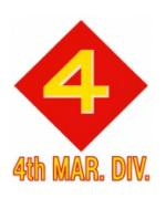 4th Marine Division Outside Window Decal