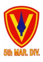 5th Marine Division Outside Window Decal
