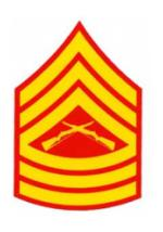 US Marines E-8 Master Sergeant Outside Window Decal