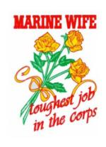 Marine Wife Toughest Job in the Corps Outside Window Decal