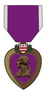 Purple Heart Medal Outside Decal