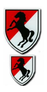 11th Armored Cavalry Regiment Outside Decal with Large and Small Decal