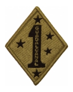 1st Marine Division Scorpion / OCP Patch With Hook Fastener