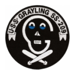 USS Grayling SS-209 Submarine Patch