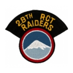 29th Regimental Combat Team Patch