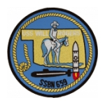 USS Will Rogers SSBN-659 Patch