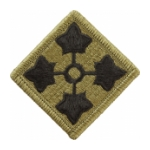 4th Infantry Division Scorpion / OCP Patch With Hook Fastener