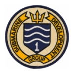 Navy Submarine Development Group 1 Patch