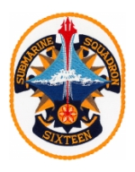Navy Submarine Squadron 16 Patch