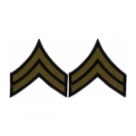 Corporal Sleeve Chevron (Green Stripe)
