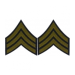 Sergeant Sleeve Chevron (Green Stripe)