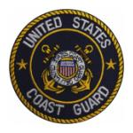 Coast Guard Patch w/ White Text