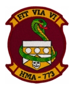 Marine Attack Helicopter Squadron HMA-773 Patch