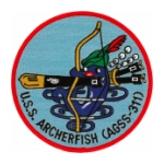 USS Archerfish AGSS-311 Patch