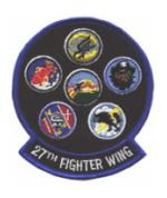 Air Force 27th Fighter Wing Patch