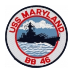 USS Maryland BB-46 Ship Patch