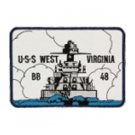USS West Virginia BB-48 Ship Patch