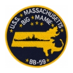 USS Massachusetts BB-59 Ship Patch