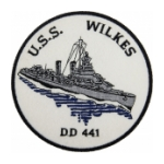 USS Wilkes DD-441 Ship Patch