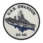 USS Swanson DD-443 Ship Patch