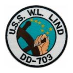 USS W.L. Lind DD-703 Ship Patch