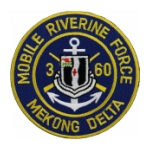 Mobile Riverine Force Mekong Delta 60th Infantry 3rd Battalion Patch