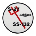 USS S-27 SS-132 Submarine Patch