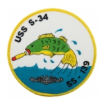 USS S-34 SS-139 Submarine Patch