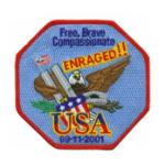 USA  Enraged Free, Brave, Compasionate Patch